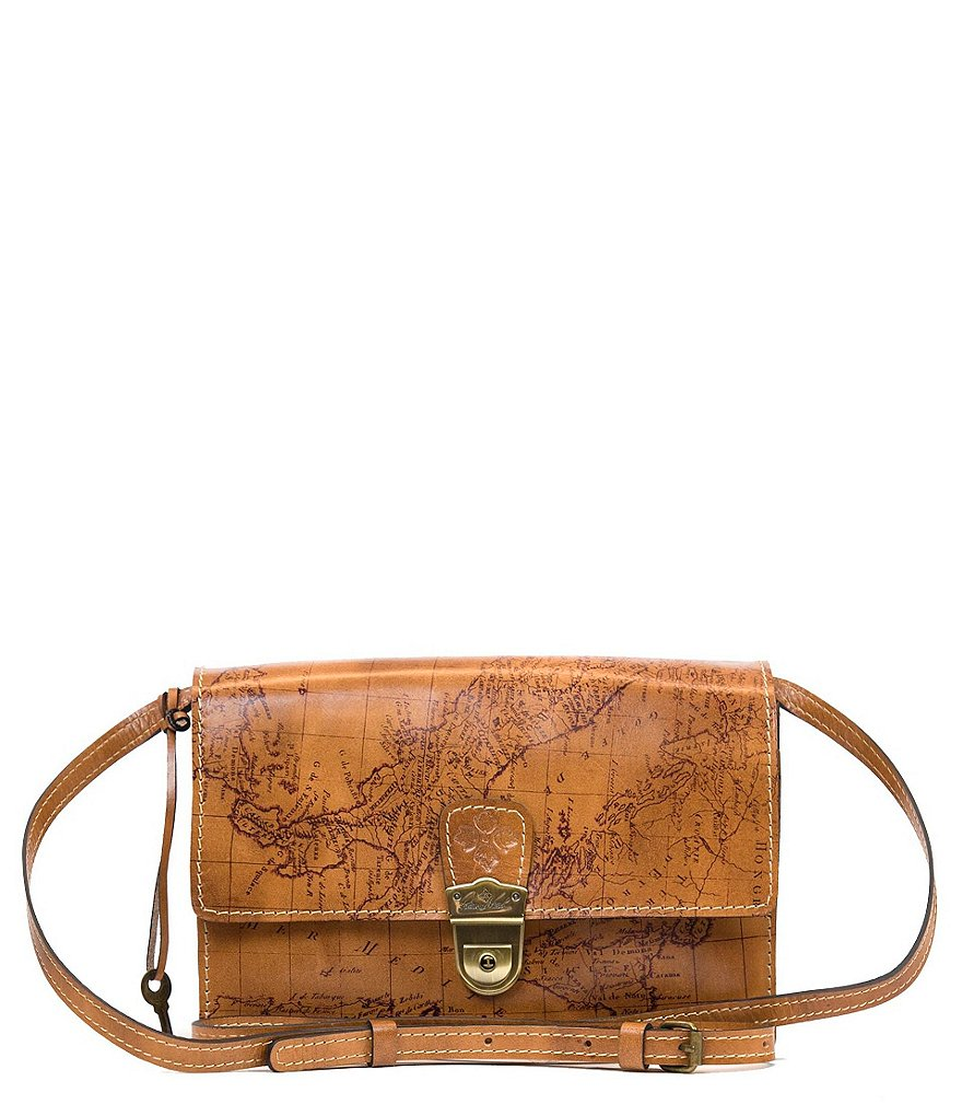 Patricia Nash Signature Map Collection Lanza Organizer Convertible Cross-Body Bag