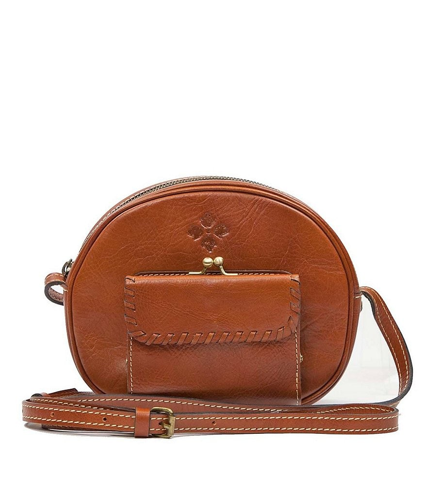 Patricia Nash Heritage Collection Zingari Oval Leather Cross-Body Bag