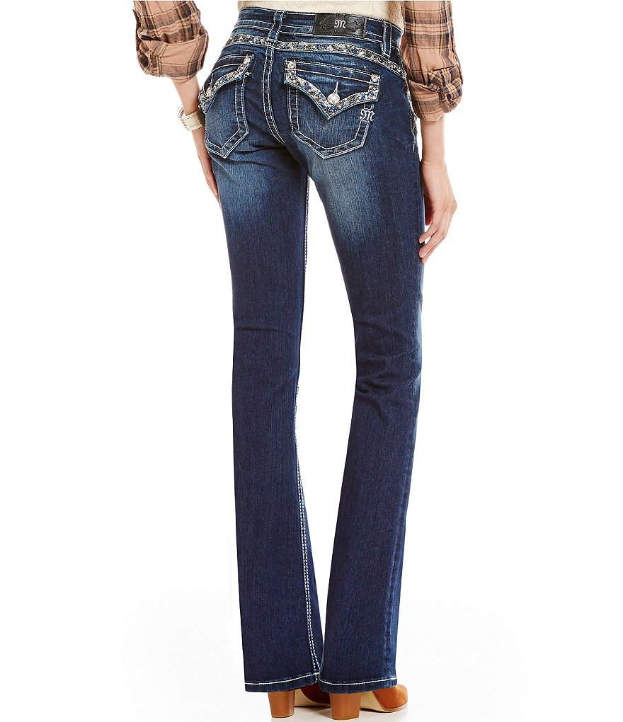 Miss Me Sequin Pocket Bootcut Jeans