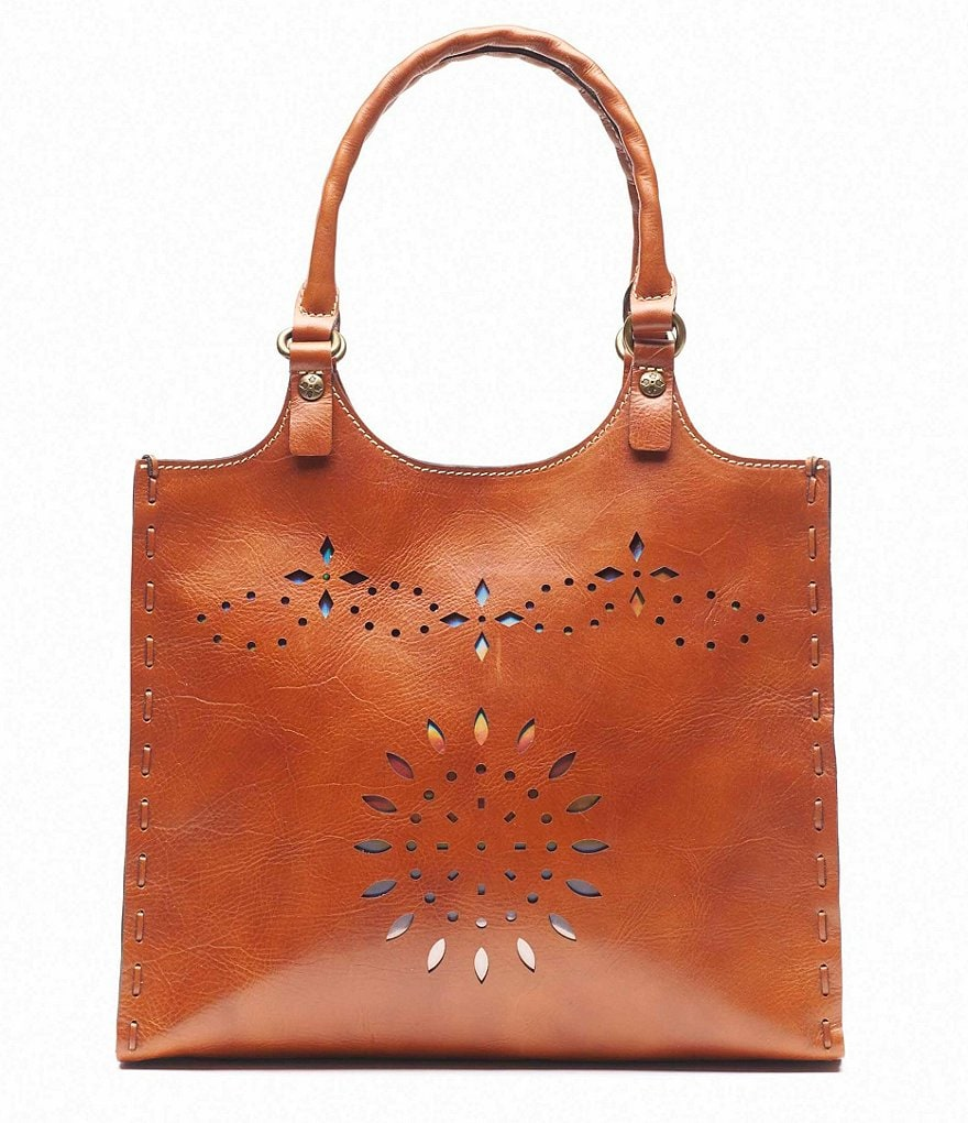 Patricia Nash Laser Cut Collection Chiara Leather Large Tote