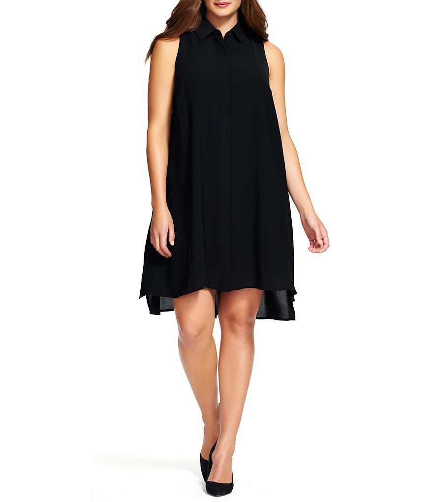 Adrianna Papell Plus Trapeze Shirt Dress