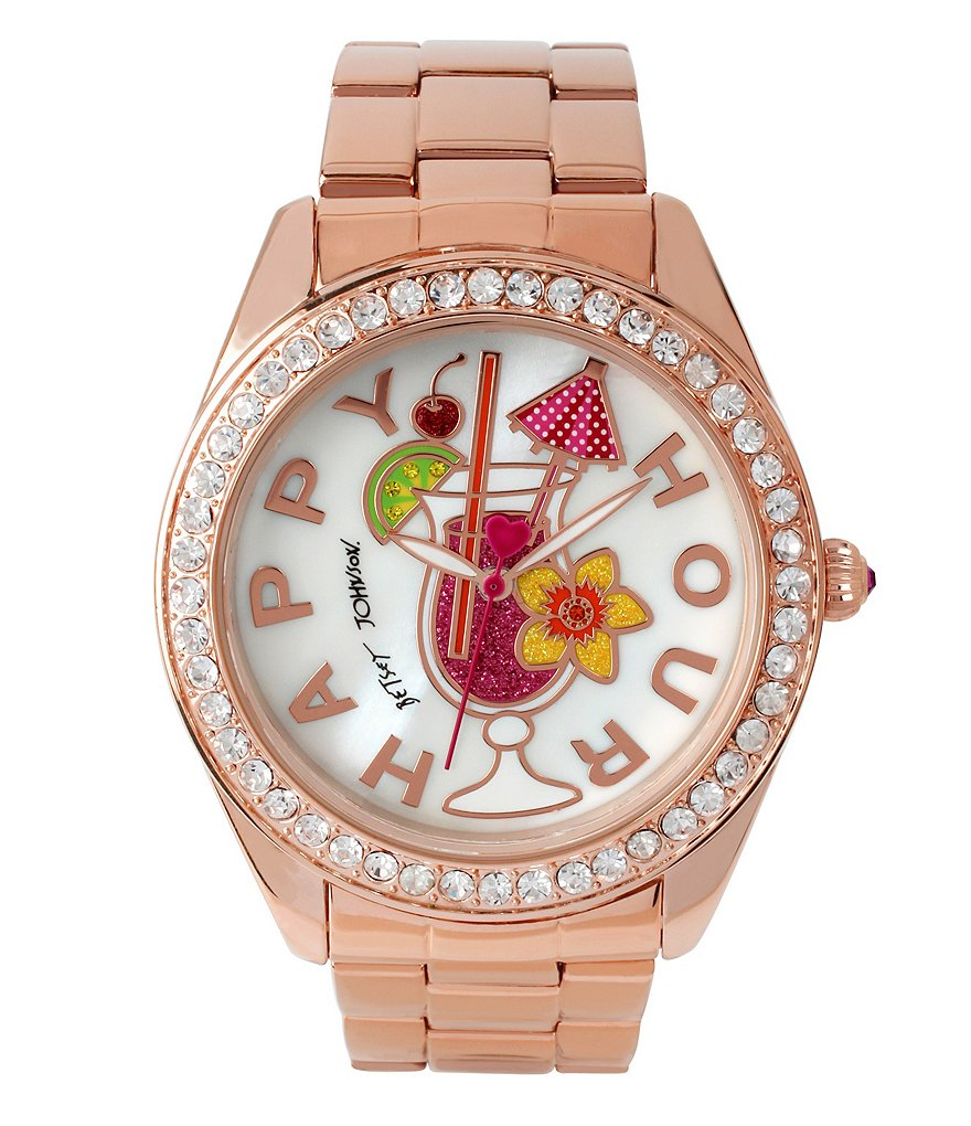 Betsey Johnson Happy Hour Bracelet Watch