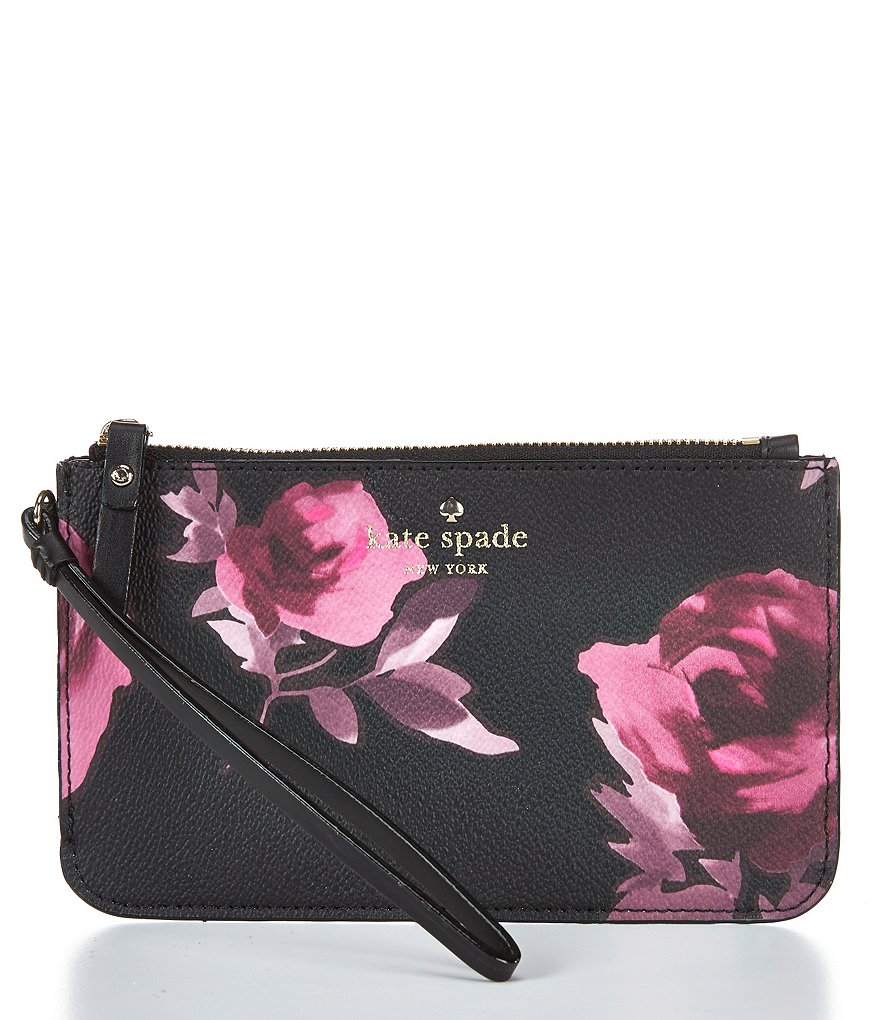 kate spade new york Hawthorne Lane Collection Slim Bee Roses Wristlet