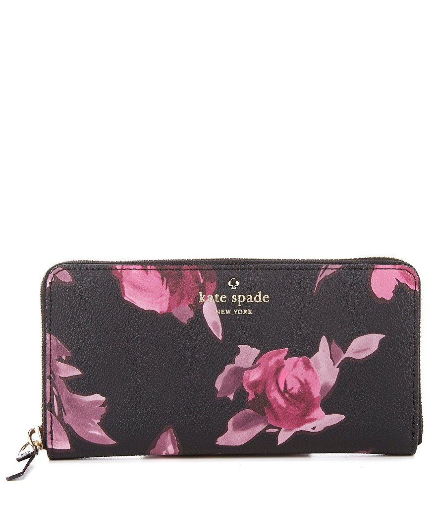 kate spade new york Hawthorne Lane Collection Lacey Roses Zip-Around Wallet