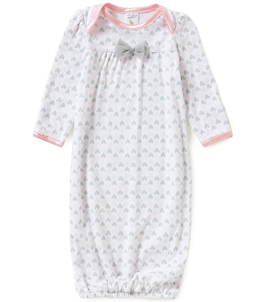 Starting Out Baby Girls Heart Print Gown