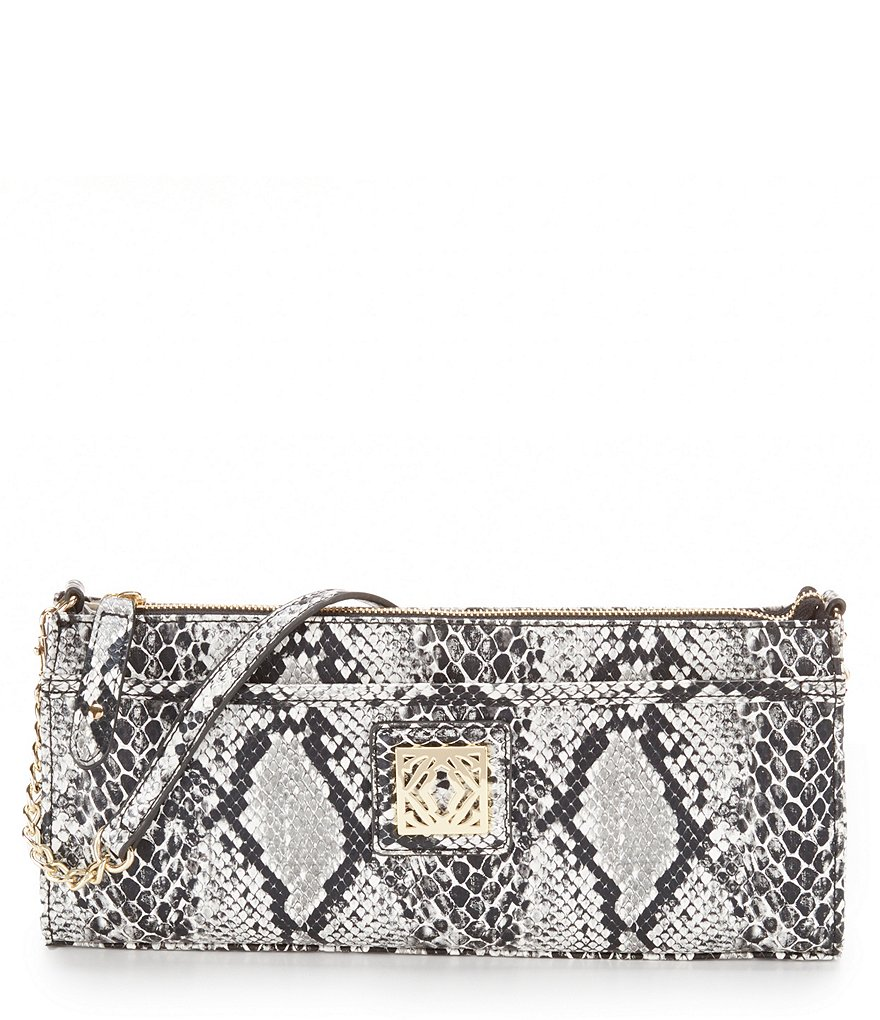 Kate Landry Snake-Print Shoulder Bag
