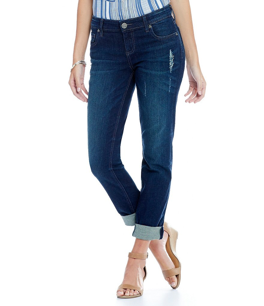 KUT from the Kloth Catherine Slouchy Boyfriend Jeans with Destruction Detail