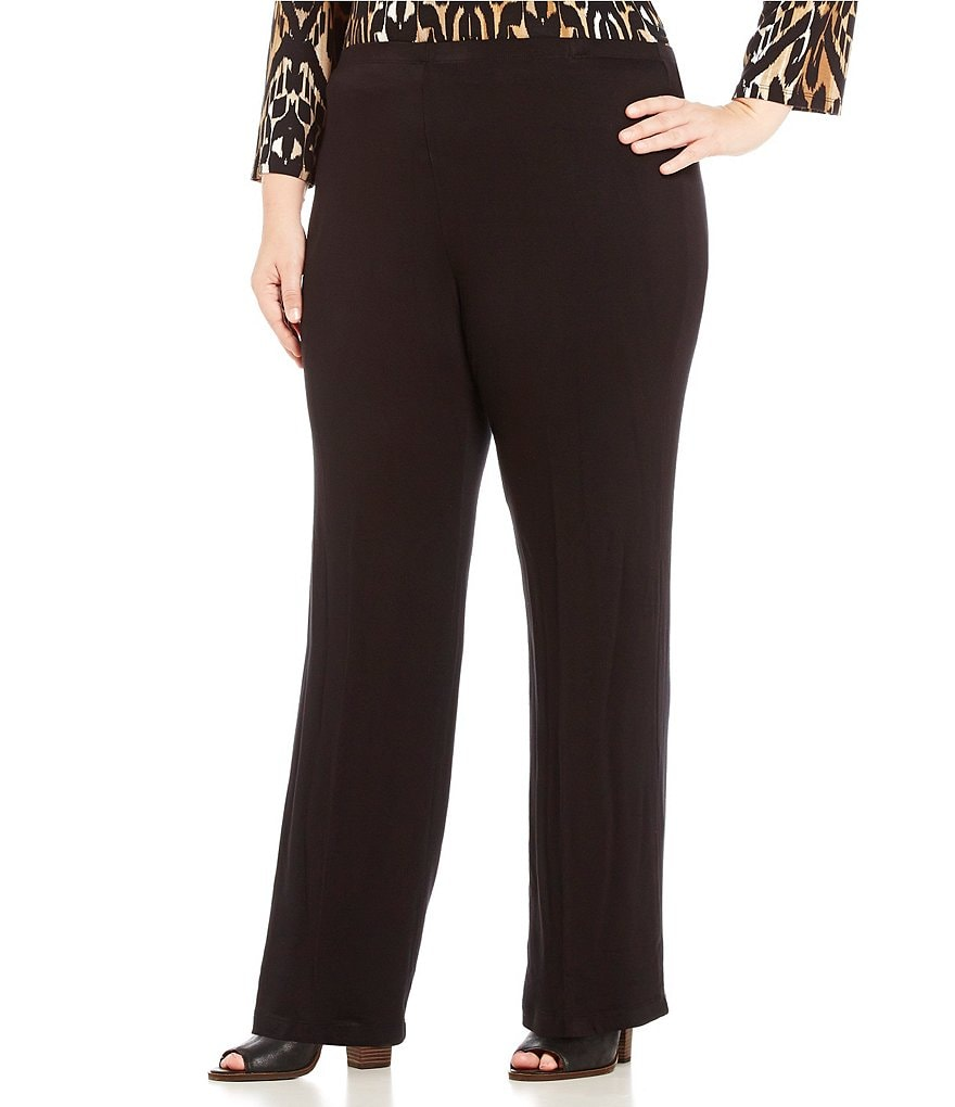 Ruby Rd. Plus Pull-On Wide Leg Knit Pant