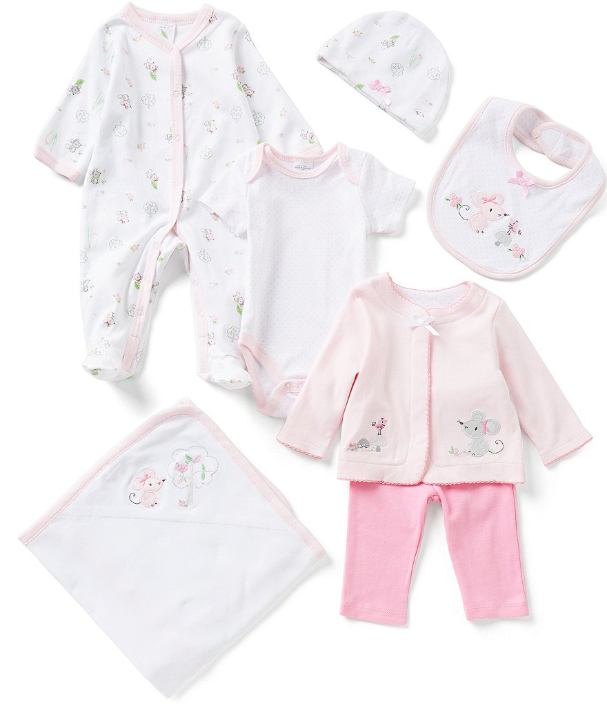 Starting Out Baby Girls Newborn-6 Months Mouse 7-Piece Layette Set