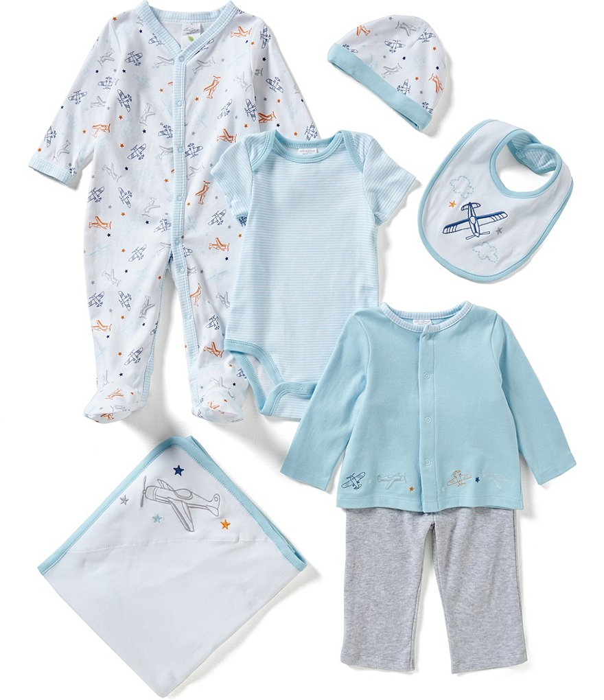 Starting Out Baby Boys Newborn-6 Months Plane Motif 7-Piece Layette Set