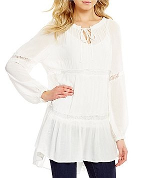 Chelsea & Theodore Lace Detail Peasant Tunic