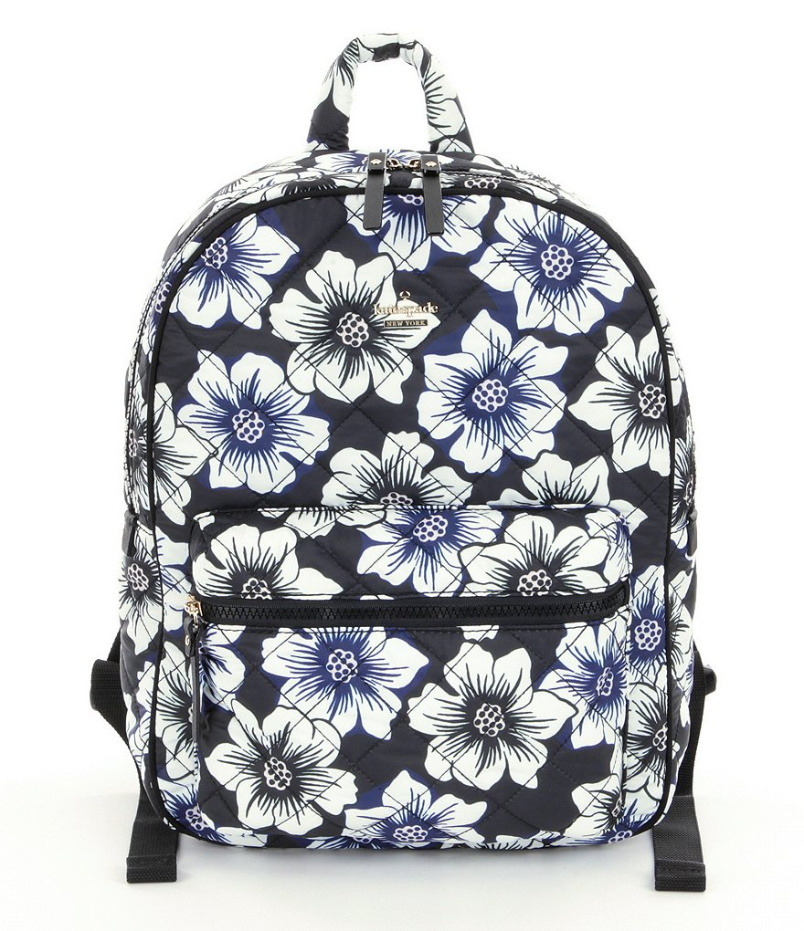 kate spade new york Ridge Street Collection Siggy Floral Quilted Matte Nylon Backpack
