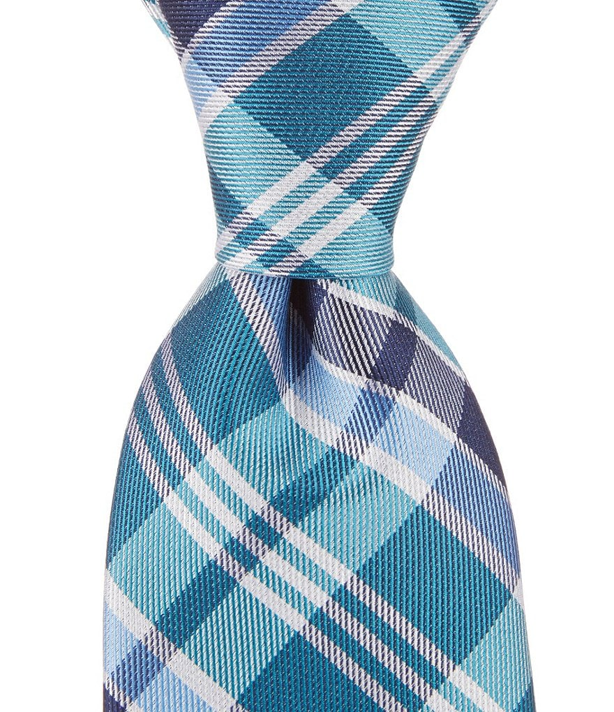 Class Club Plaid Silk Tie