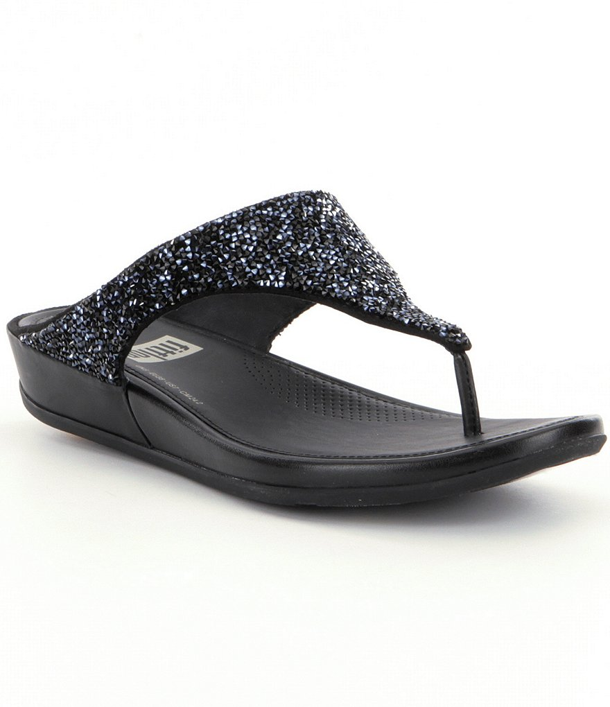FitFlop Banda Roxy Embellished Slip-On Sandals