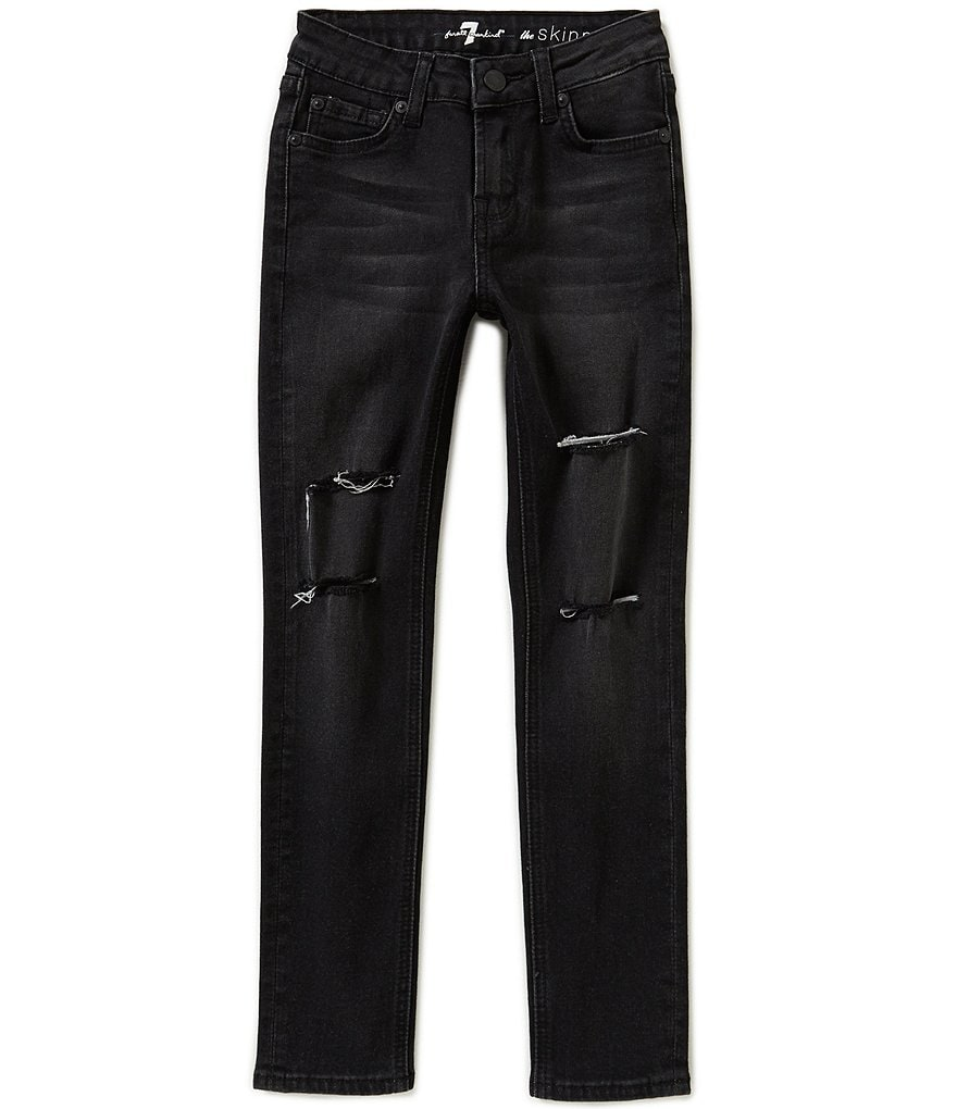 7 for All Mankind Big Girls 7-14 The Skinny Destructed Jeans