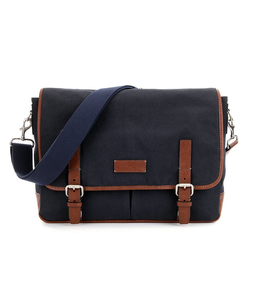 Fossil Graham Canvas Laptop Messenger Bag