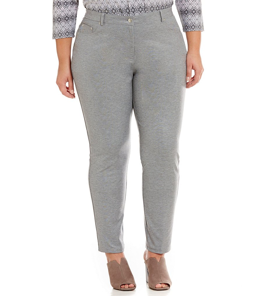 Ruby Rd. Plus Stretch Ponte Pant with Foil Detail