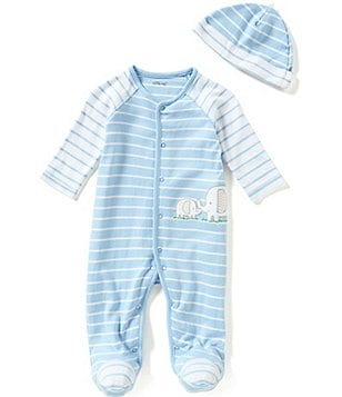 Little Me Baby Boys Preemie-9 Months Elephants Footed Coverall