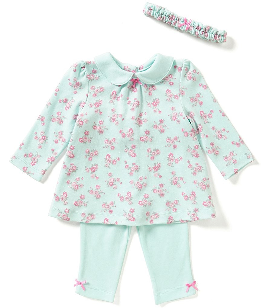 Little Me Baby Girls 3-12 Months Posy-Printed Tunic, Leggings and Headband Set