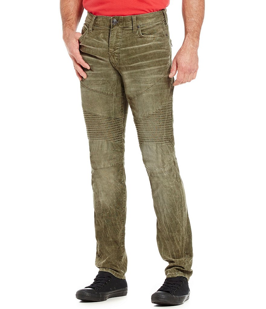 True Religion Rocco Slim Embroidered Moto Jeans