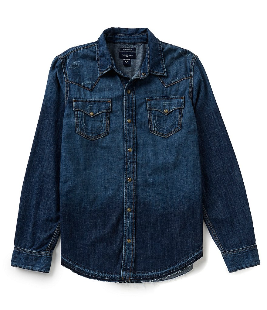 True Religion Ryan Denim Western Shirt
