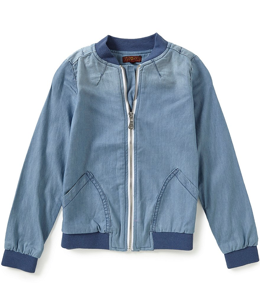 7 for All Mankind Big Girls 7-16 Bomber Jacket