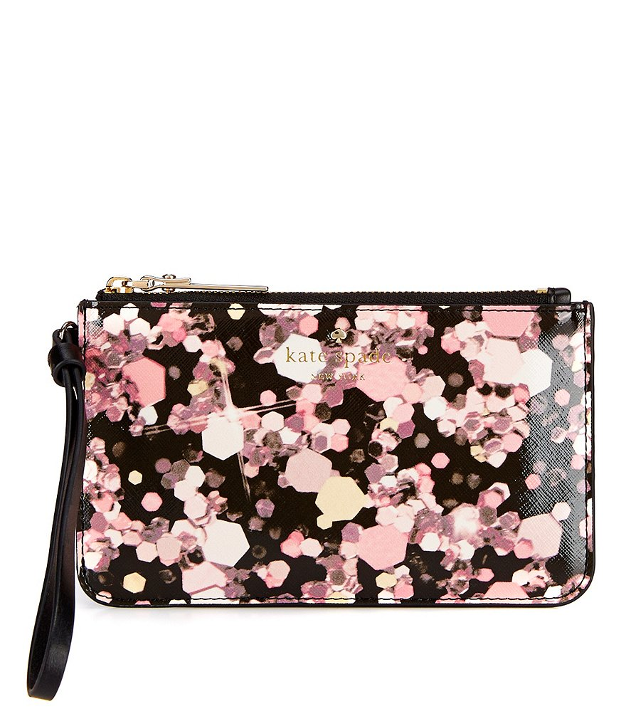 kate spade new york Grant Lane Collection Slim Bee Glitter-Print Wristlet