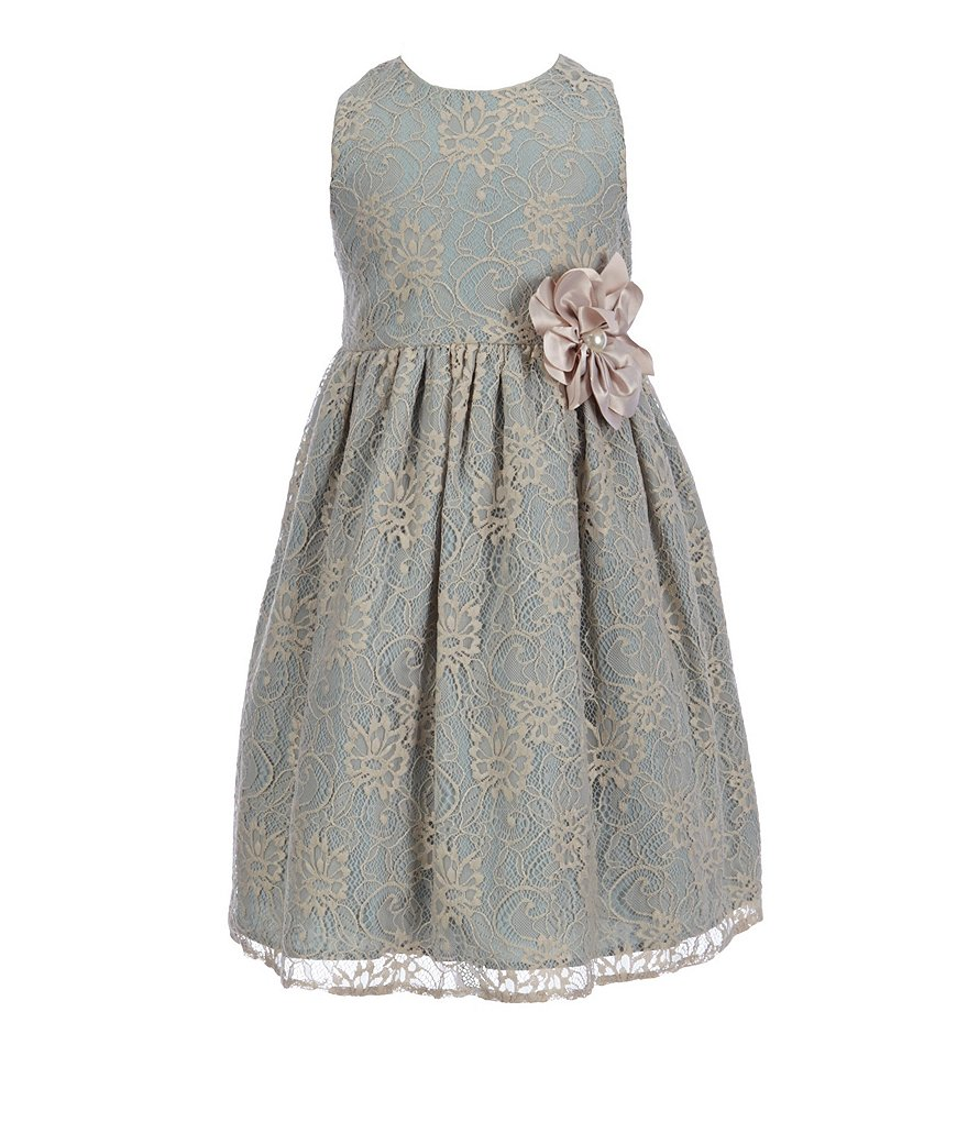 Pippa & Julie Little Girls 2T-6X Floral-Applique Lace Dress