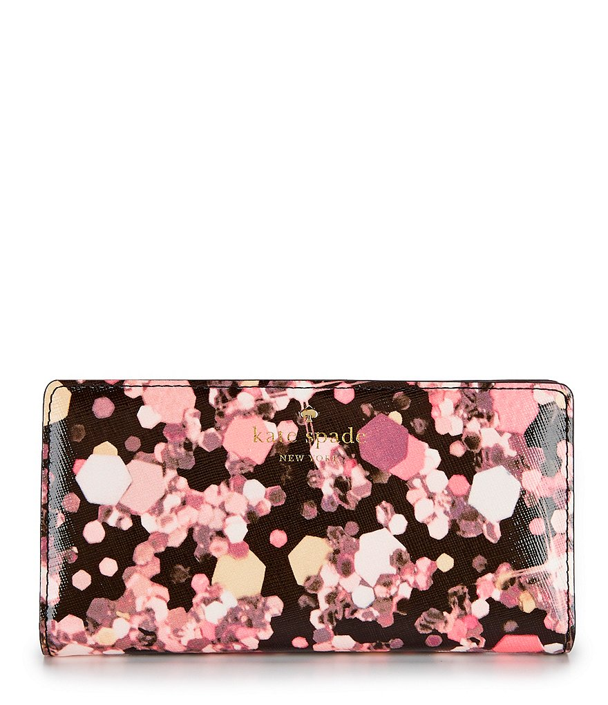 kate spade new york Grant Lane Collection Stacy Glitter-Print Continental Wallet