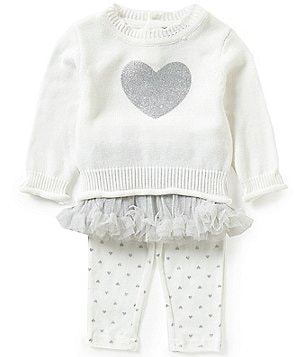 Wendy Bellissimo Baby Girls 3-24 Months Heart Appliqué Top, Tutu, and Leggings Set