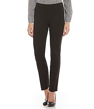 Jones New York Audrey Side Zip Tapered Straight-Leg Pants