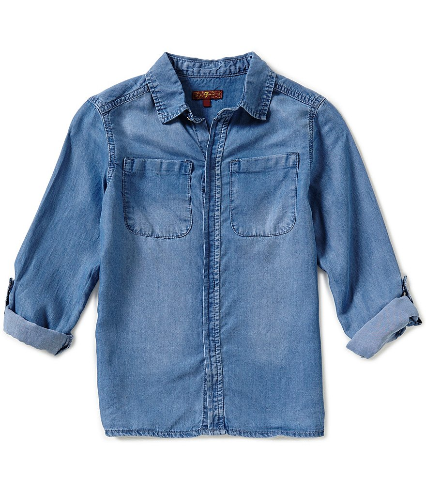 7 for All Mankind Big Girls 7-16 Button-Down Shirt