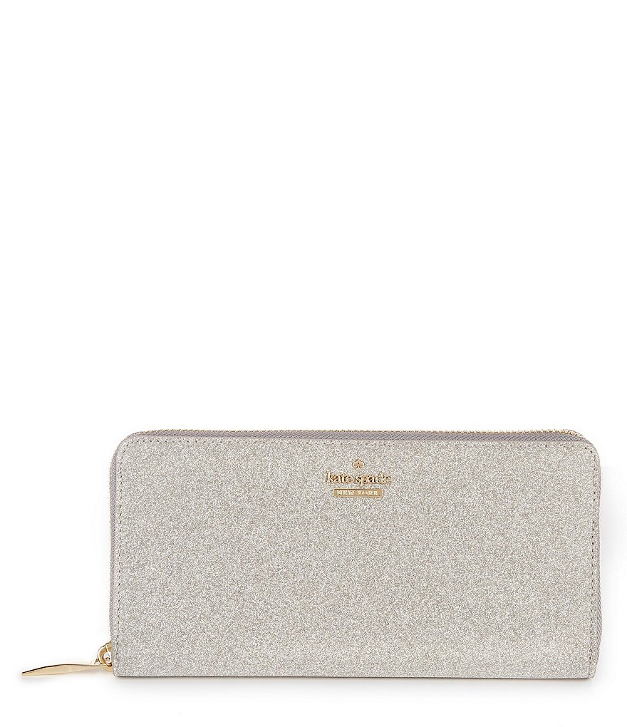 kate spade new york Burgess Court Collection Lacey Glitter Zip Wallet