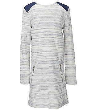 7 for All Mankind Big Girls 7-16 Heathered Striped Pocket Dress
