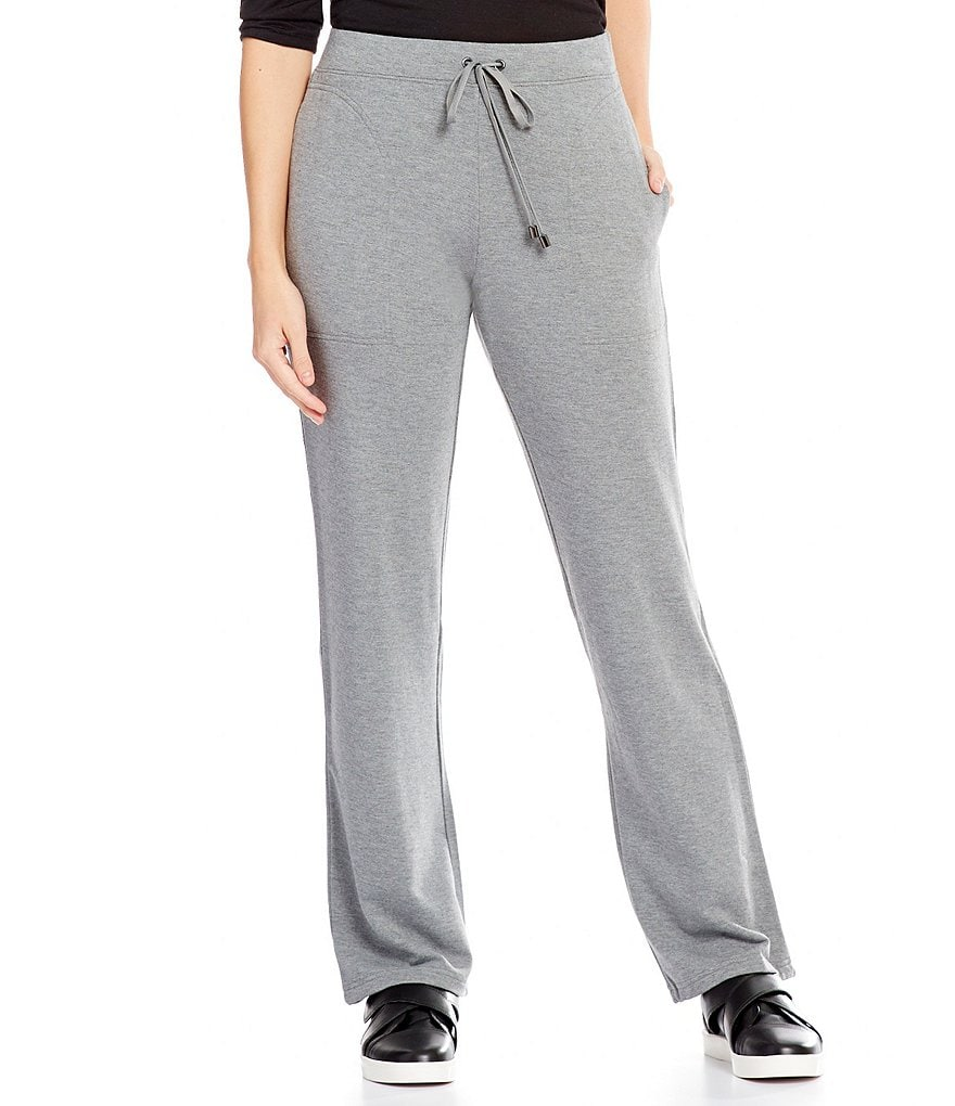 Jones New York Brushed Knit Wide-Leg Pants