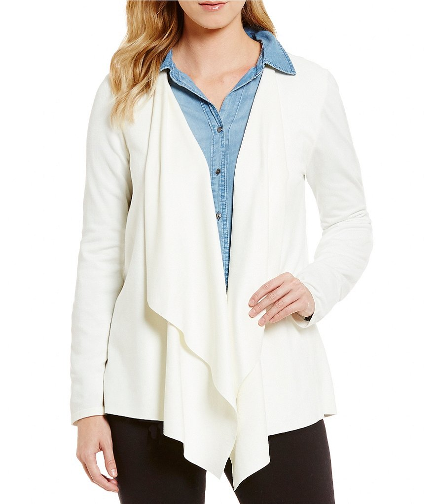Intro Long Sleeve Faux-Suede Sweater-Back Cozy Cardigan