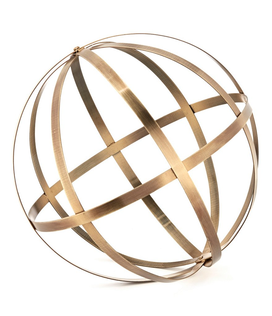 Southern Living Antiqued Brass Orb