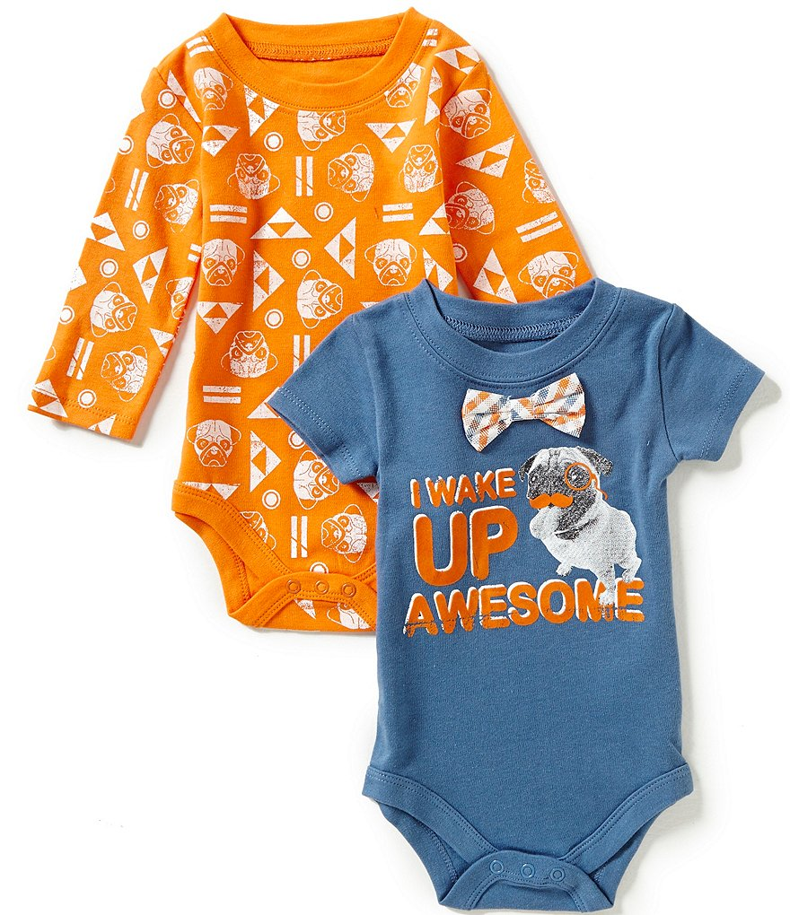 Baby Starters Baby Boys 3-12 Months Dog Bodysuit Two-Pack