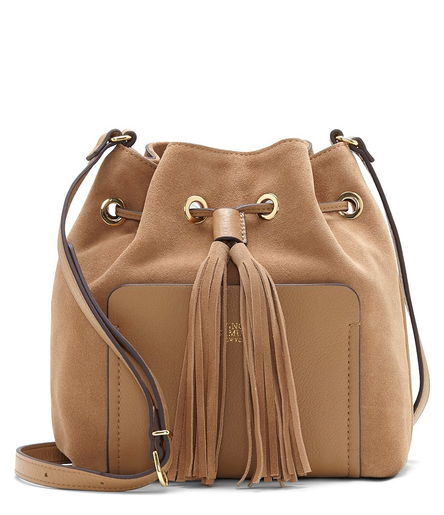 Vince Camuto Elsie Tasseled Drawstring Bucket Bag