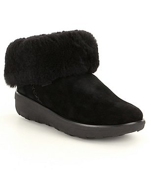 FitFlop Supercush Shearling Mukloaff Shorty Booties