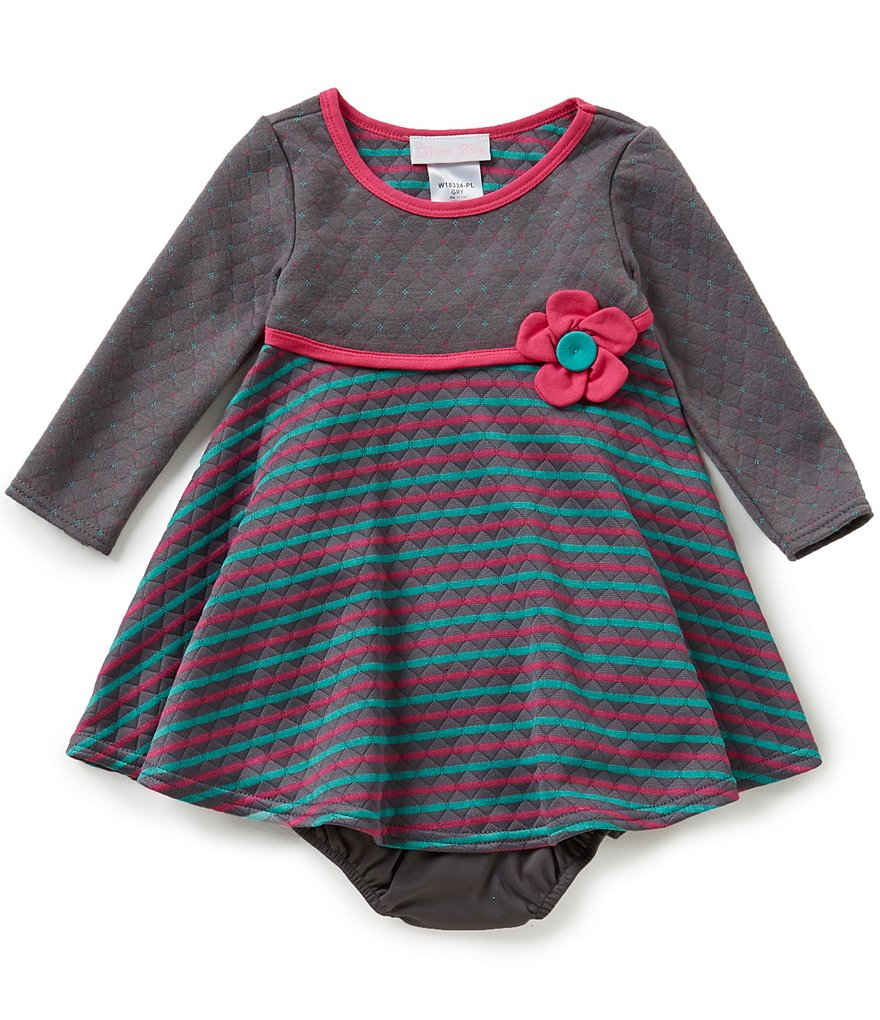 Bonnie Jean Baby Girls 12-24 Months Striped A-line Dress