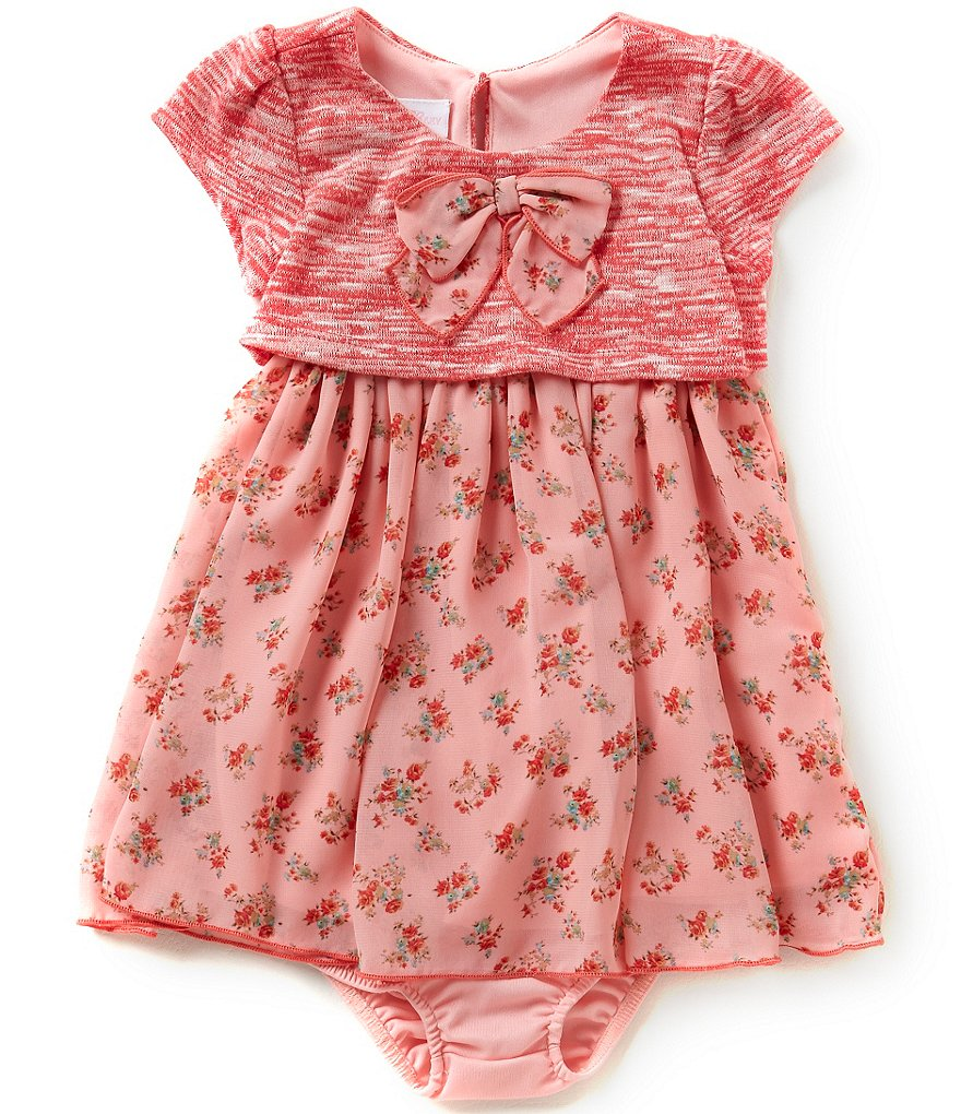 Bonnie Jean Baby Girls 12-24 Months Textured Knit Popover Dress