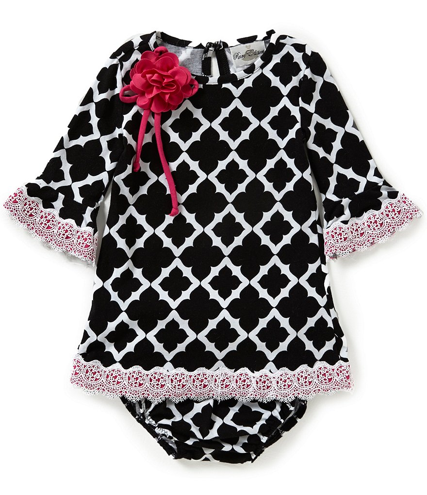 Rare Editions Baby Girls 12-24 Months Tile-Print Shift Dress