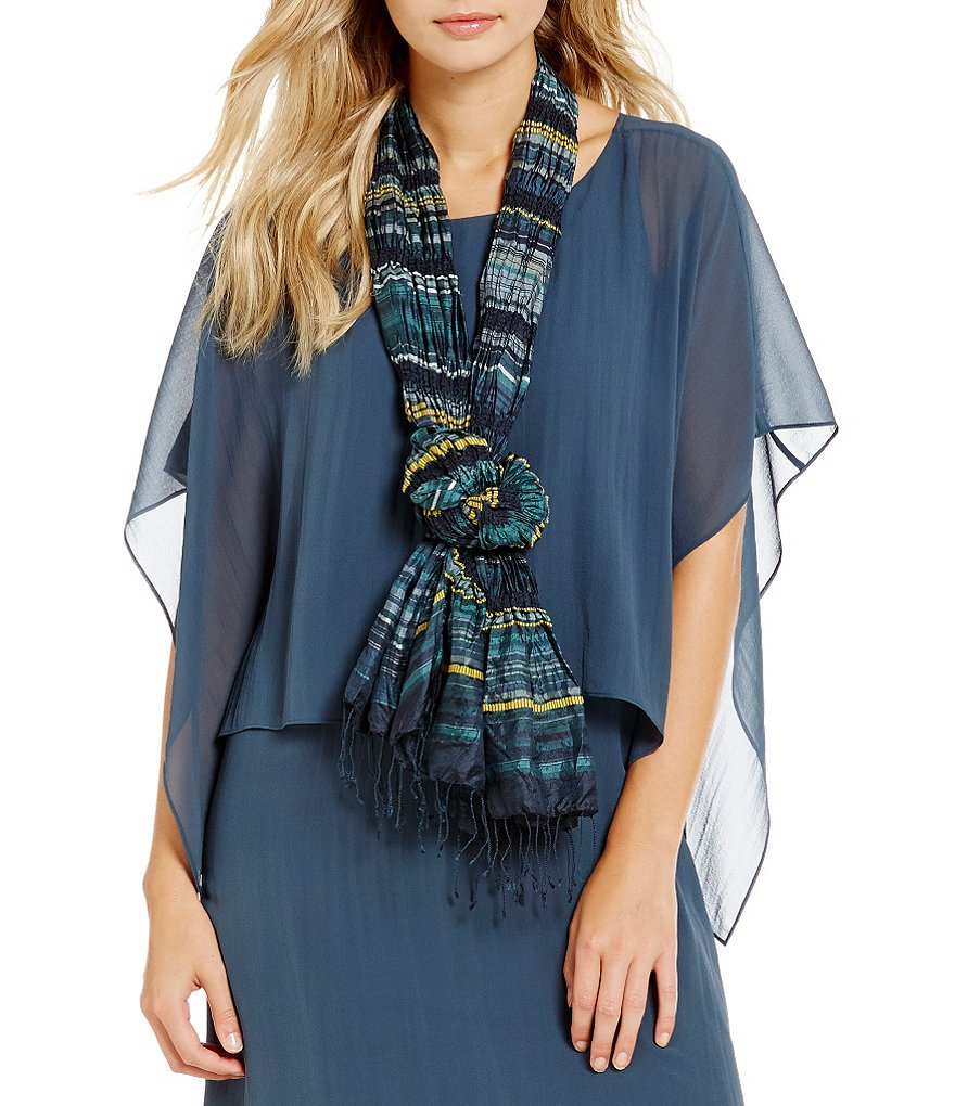 Eileen Fisher Pucker Silk Scarf