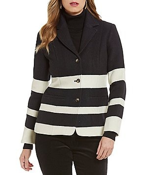 Pendleton Skyline Notch Collar Striped Jacquard Jacket
