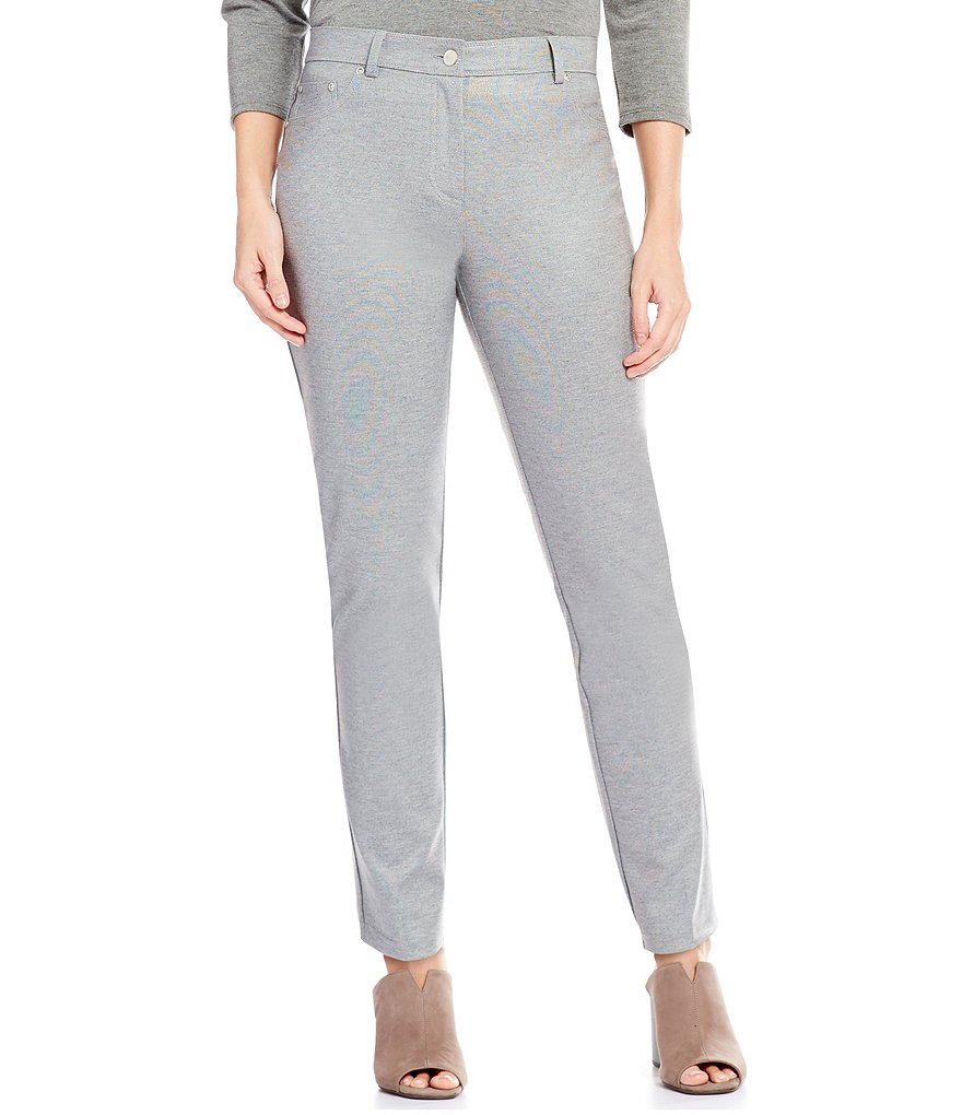 Ruby Rd. Petite Stretch Ponte Pant with Foil Detail