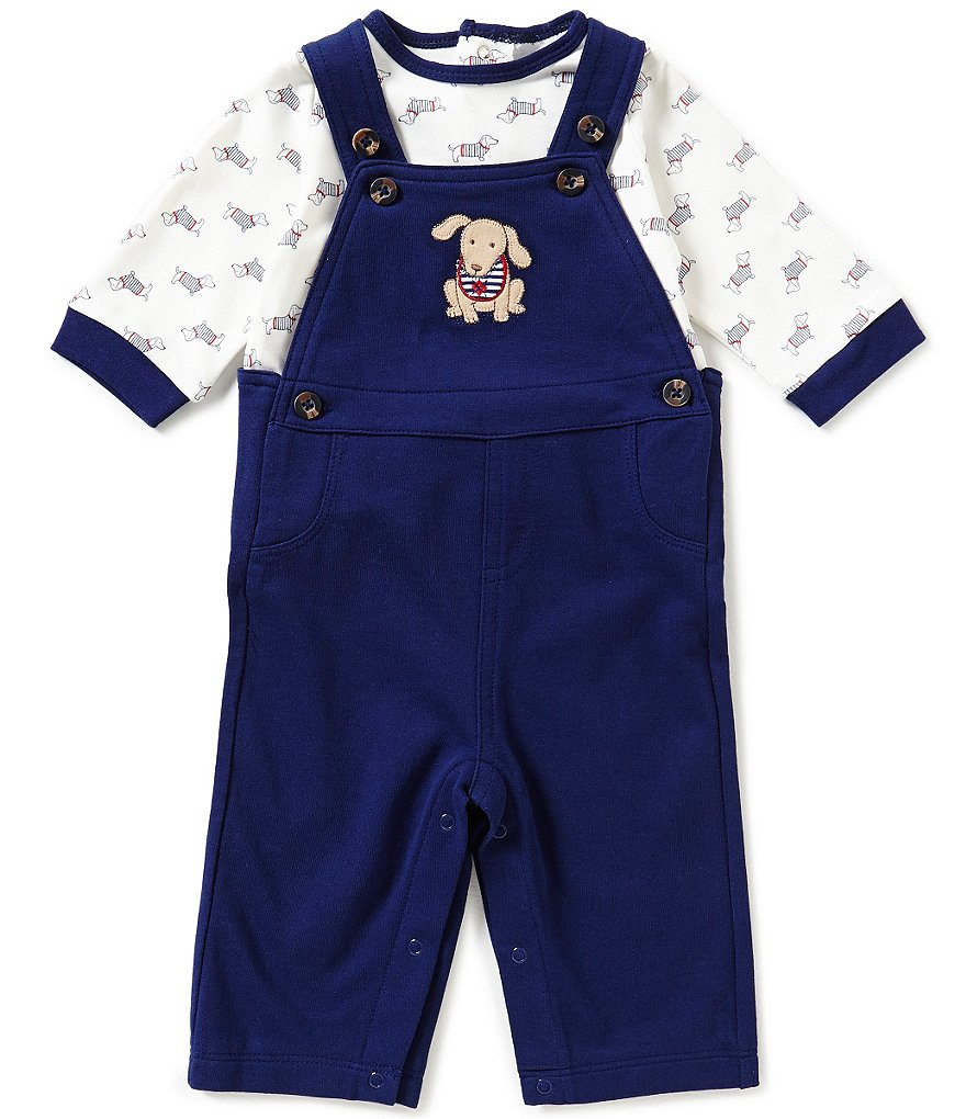 Little Me Baby Boys 3-12 Months Dachshund Overall Set