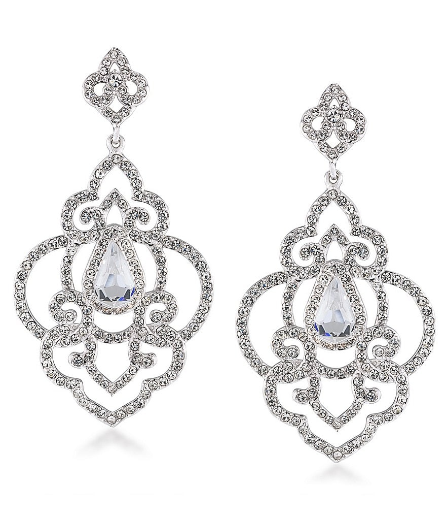Carolee The Cloisters Crystal Openwork Drop Statement Earrings