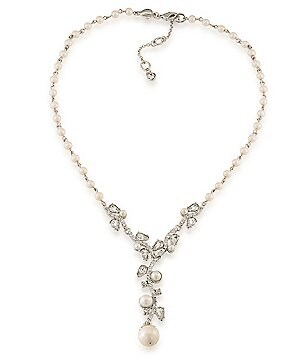 Carolee Washington Bridal Square Pearl Y-Necklace