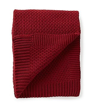 Aman Imports Calvin Cable-Knit Cotton Throw